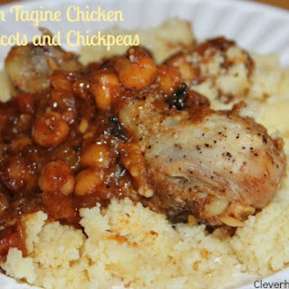 Moroccan Tagine Chicken with Apricots & Chickpeas.