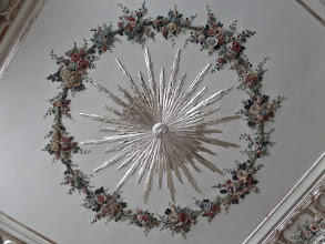 Photo: A lovely ceiling graces the Rose Room.