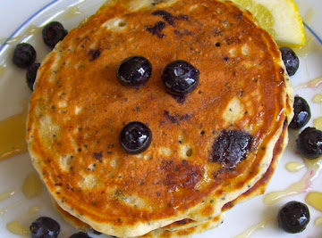 Blueberry Lemon Poppy Seed Pancakes Recipe