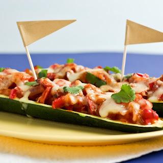 Enchilada-Stuffed Zucchini Boats.