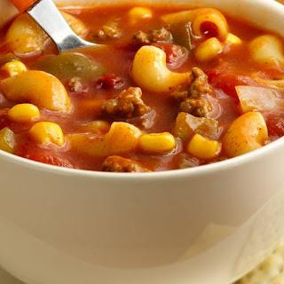 Chili-Mac Soup.