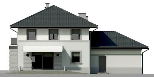 Dom przy Diamentowej - Elewacja tylna