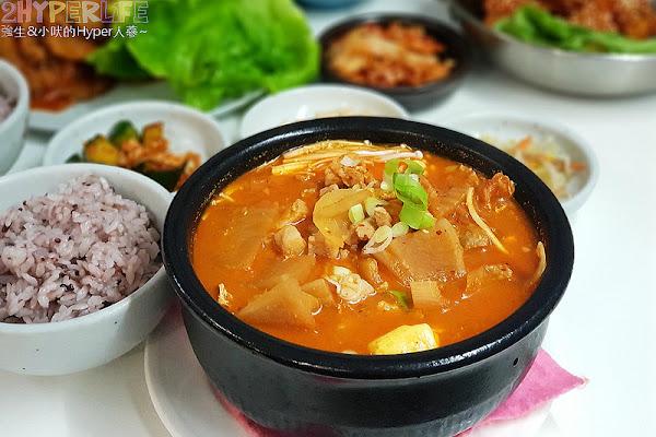 米花停韓式料理│韓國夫婦廚師開的韓國料理,泡菜豆腐湯味道不一般啊~韓式辣醬豬肉份量多肉肉控會愛!