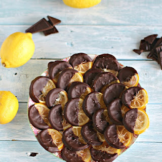Chocolate Dipped Candied Lemon Rounds
