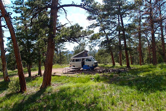 Photo: A nice campspot in state wildlife land--somewhere between Red Feather Lakes and the Wyoming state line.