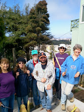 Photo: Some of the Hidden Garden Steps volunteers (from left: Connie, Licia, Wayne, Clint, Sherry, and Liz)  onsite at 16th Avenue, between Kirkham & Lawton streets, in San Francisco's Inner Sunset District on Saturday, September 14, 2013 for monthly planting and onsite clean-up in preparation for the installation of the 148-step ceramic-tile mosaic by project artists Aileen Barr and Colette Crutcher. For more information about the Hidden Garden Steps project, please visit http://hiddengardensteps.org and/or follow us on Twitter (@gardensteps), Facebook (Hidden Garden Steps), and Google+.
