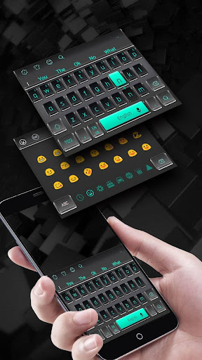 3D Black Keyboard Theme for PC