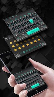 3D Black Keyboard Theme - náhled
