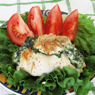 Stuffed Chicken with Spinach & Cream Cheese.