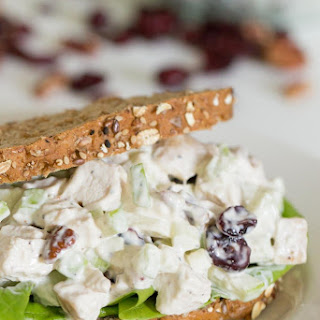 Fall Chicken Salad With Apples, Cranberries and Pecans.
