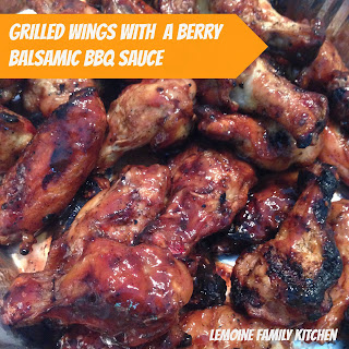 Grilled Wings with Berry Balsamic BBQ Sauce