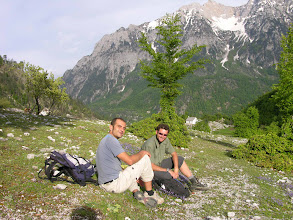 Photo: Florian and Mick in Valbona Valley