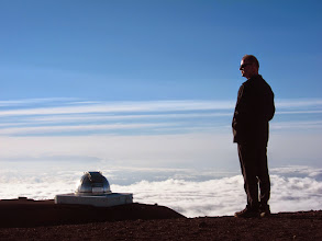 Photo: Mark and one of the observatories.