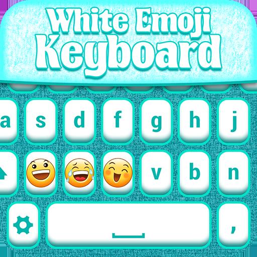 Emoji Keyboard White Theme Icon