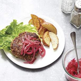 Beef & Bulgur Burgers with Blue Cheese.