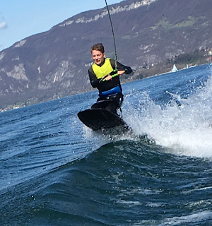 kneeboard , bourget du lac , petit saut