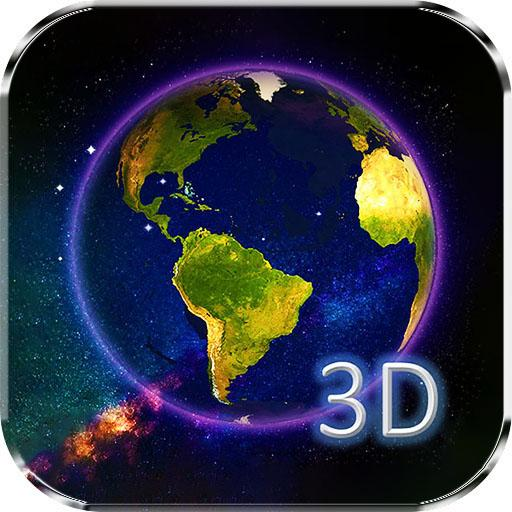 Download Earth & Moon In HD Gyro 3D Parallax Live