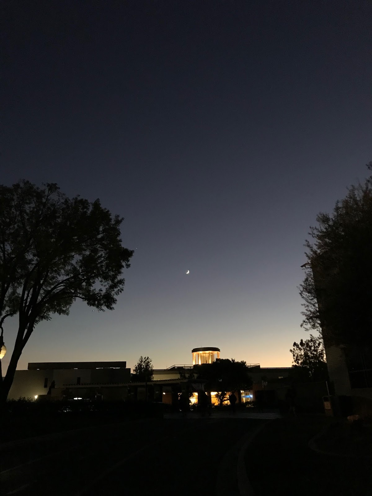 Moon Over Biola's Lighthouse Library