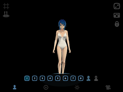 Anime Girl Pose 3D screenshot 6