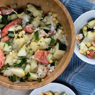 Lobster Zucchini Salad.