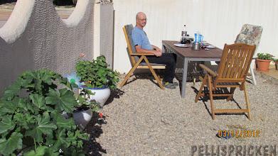 Photo: Mat ute på terassen smakade bra när vi kom hem