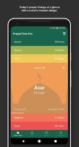 PrayerTime Pro - Azan, Qibla, Khutbah screenshot 1