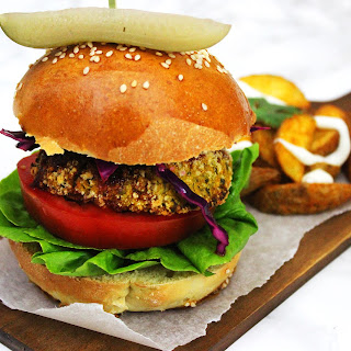Carrot, Coriander and Chickpea Burgers.