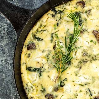 Mushroom and Goat Cheese Frittata