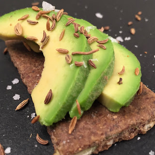 Avocado on Seed & Sage Almond & Pumpkin Teff Crackers