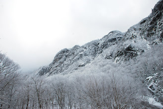 Photo: Winter in Smugglers' Notch State Park by Linda Carlsen-Sperry.