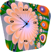 Flowers clock  live wallpaper