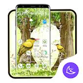 Oil Painting Garden APUS Launcher Theme Android APK Download Free By Cool Theme Team