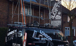 a london dream lofts van in front of a a loft being converted