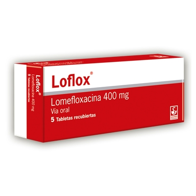 Lomefloxacina Loflox 400 Mg X 5 Tabletas siegfried 400 mg x 5 tabletas