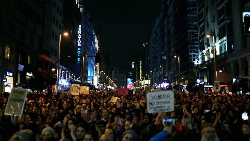 La manifestación del 8 de marzo fue uno de los eventos más importantes del año.