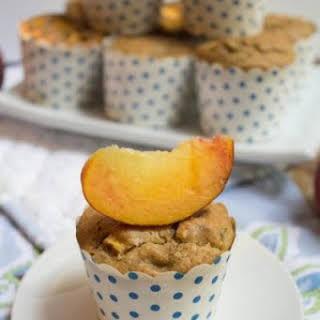 Dairy & Gluten Free Peach Muffins.
