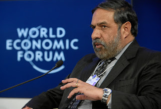 Photo: DAVOS/SWITZERLAND, 28JAN12 - Anand Sharma, Minister of Commerce and Industry, Textiles of India is captured during the session 'After Doha: The Future of Global Trade' at the Annual Meeting 2012 of the World Economic Forum at the congress centre in Davos, Switzerland, January 28, 2012.  Copyright by World Economic Forum swiss-image.ch/Photo by Remy Steinegger
