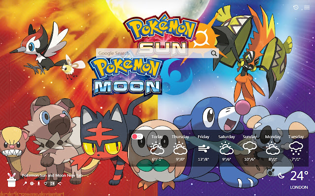 Pokemon Sun and Moon New Tab, Wallpapers HD