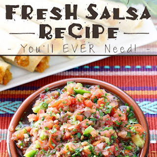 The BEST & Only Fresh Salsa Recipe You'll EVER Need!