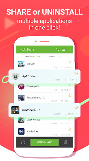 Apk Share Bluetooth - Send/Backup/Uninstall/Manage 3.4.3 screenshots 1