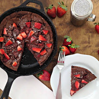 Chocolate Strawberry German Pancakes.