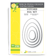 Birch Press Die - Stitched Egg Set