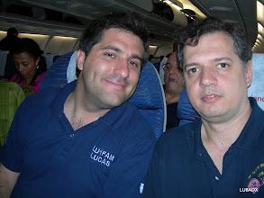 Photo: Lucas LU1FAM y Diego LU8ADX esperando el despegue