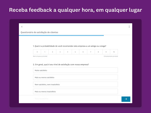Foto do SurveyMonkey Anywhere