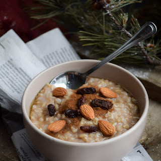 Honey Almond Brown Rice Pudding (Vegan).