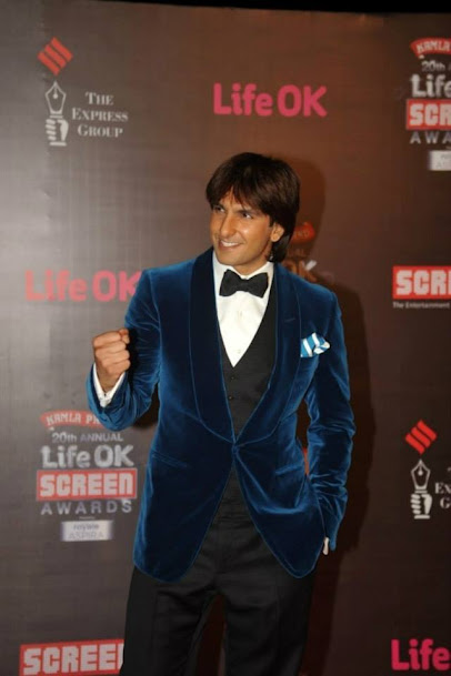 Ranveer Singh At Life OK Screen Awards 2013