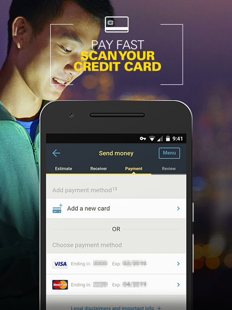 Send Money Globally WU- screenshot