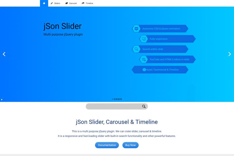 jQuery jSon Slider, Carousel & Timeline Plugin - Tutsplanet