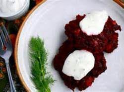 Beet Fritters Recipe