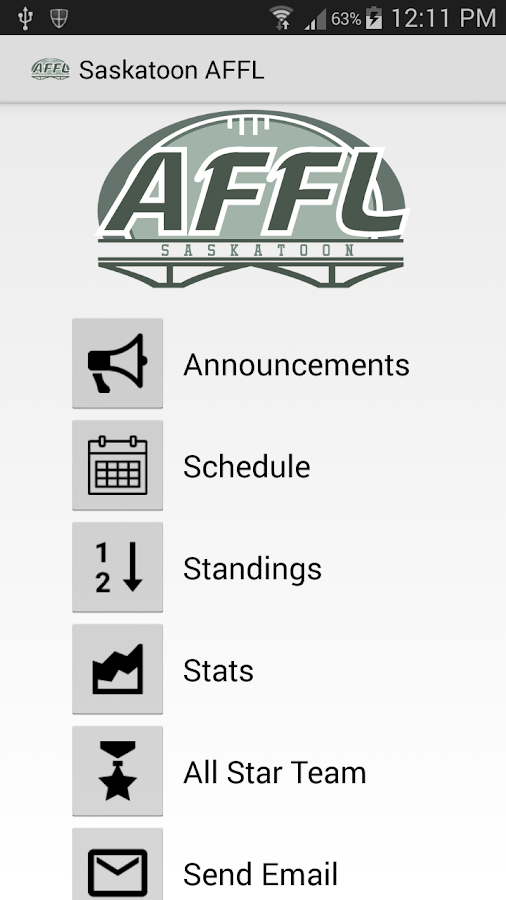 Saskatoon AFFL- screenshot